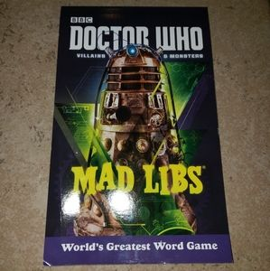 Brand new BBC Doctor Who Mad Libs book